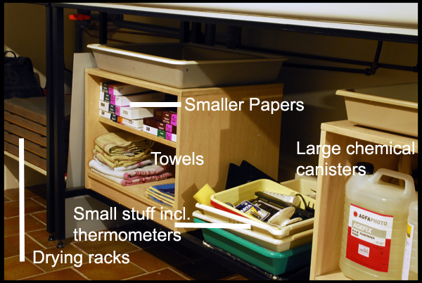 Papers, trays, chemicals and stuff