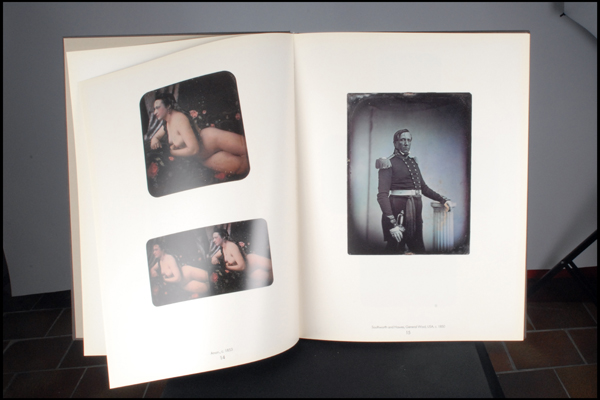 Inside of the book; in the back mentioning of all the processes used to create the photos including date, size and person who made them