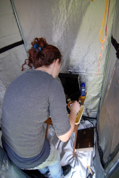 Me in my Darkroom Tent