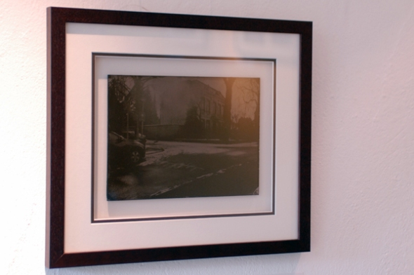 I just had to take a photo of my work ;-) but you can see the way it's framed