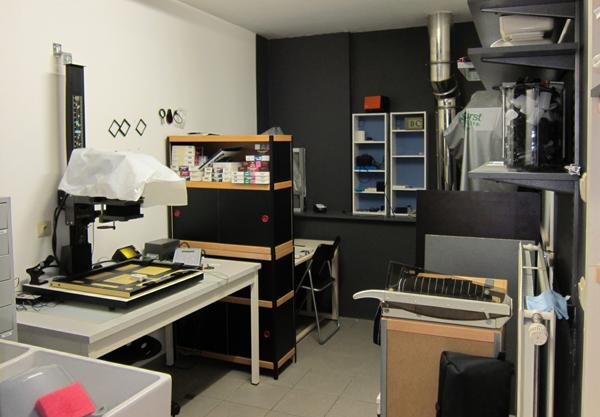 Galerie Zebra - Private darkroom dry side