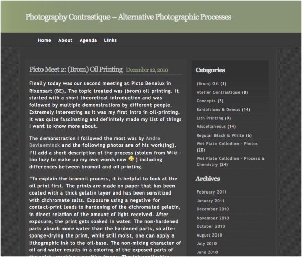 "Screenshot of the ""old"" blog to remind you of its boredness ;-)"